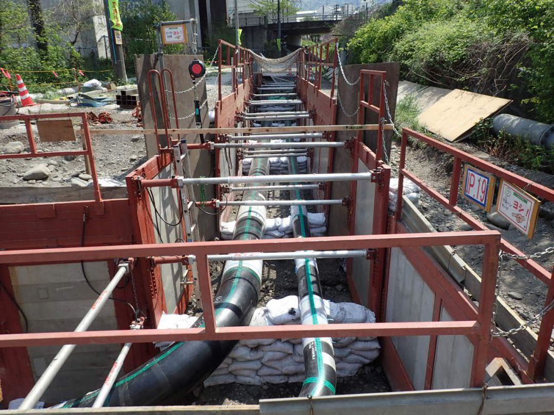 富山ライン建設工事 開削土木状況 [富山県]